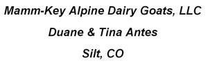 Mamm-Key Alpine Dairy Goats, LLC