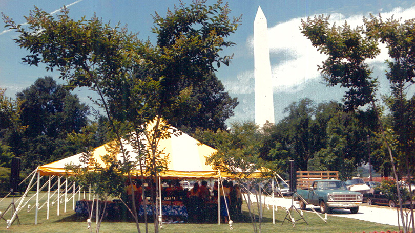 Presidential Herd Presentation tent.